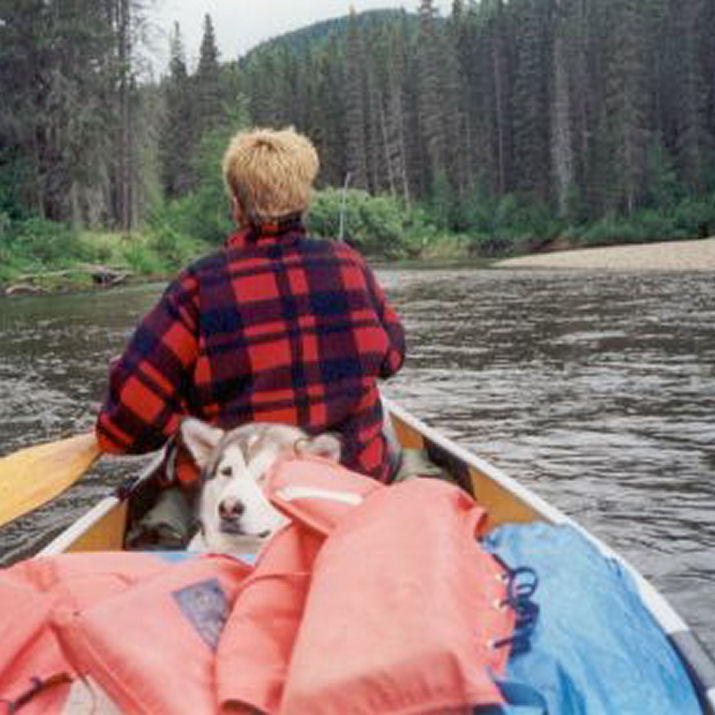 Canoeing Pictures of Alaskan Malamutes